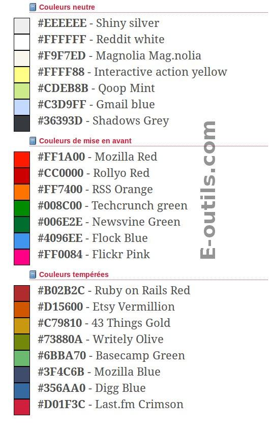 couleur web 2.0